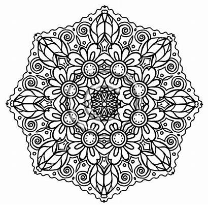 Mandala Coloring Pages Flower Intricate Printable Adult