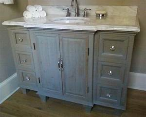 rustic painted bathroom vanity With painted vanities bathrooms