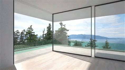 villa tugendhat floor these glass walls slide around corners to disappear from