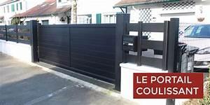 Portail Coulissant Automatique : portes de garage et portails archives smf services ~ Premium-room.com Idées de Décoration