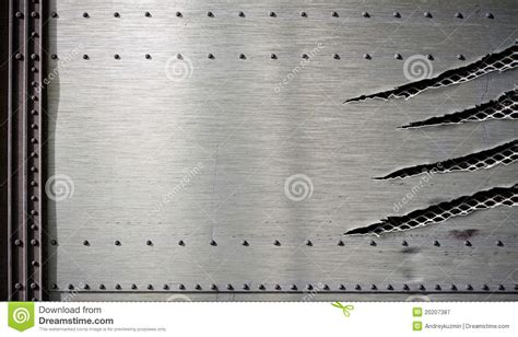 metal template grunge damaged metal template with torn edges stock image image 20207387