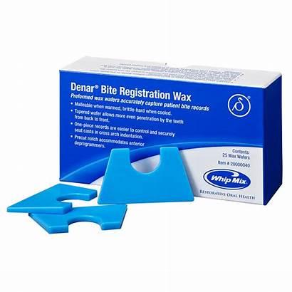 Wax Denar Bite Registration Wafers Whipmix Wosk