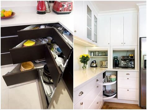 storage ideas for kitchen cupboards clever storage ideas for corner kitchen cabinets