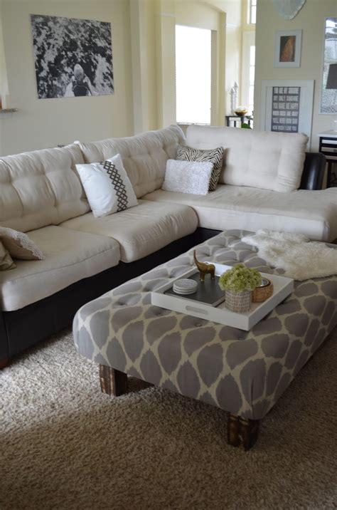 two sofa living room sumptuous two tone sectional tufted sofa white and black