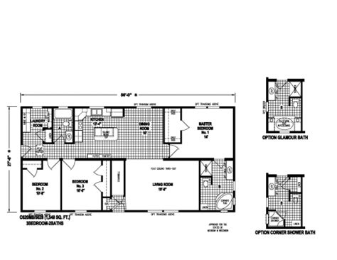 single wide multi section manufactured modular homes  town country housing