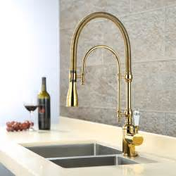 gold kitchen faucet aliexpress buy luxury 3 type gold kitchen faucet single handle cold water tap
