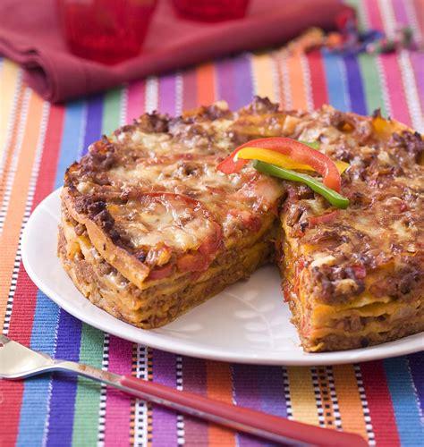 cuisiner des lasagnes lasagne de tortillas au boeuf et poivron les meilleures