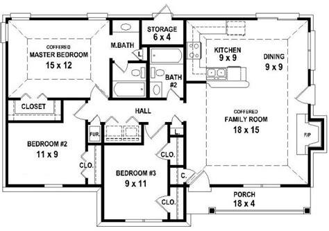 three bedroom two bath house plans 653626 3 bedroom 2 bath house plan less than 1250