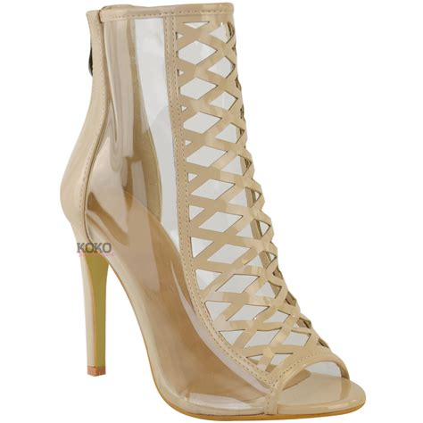 designer shoes on womens high heel perspex clear sandals