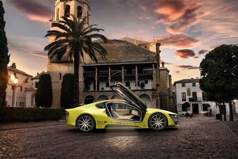 Wallpaper Rinspeed Etos, CES 2016, Electric Car, yellow ...