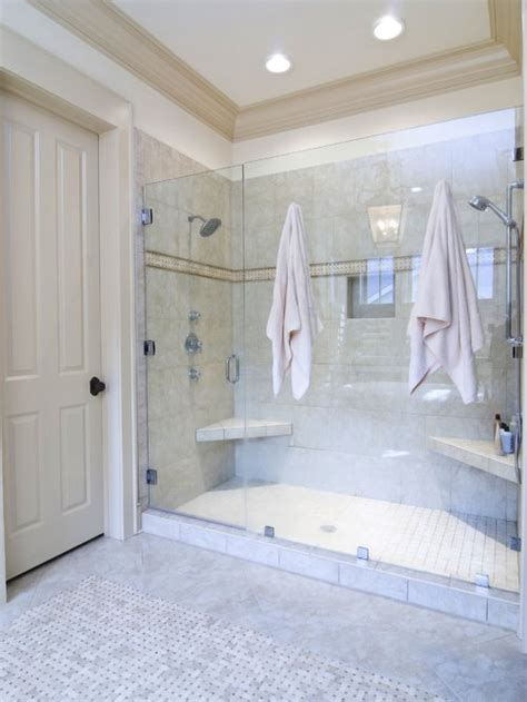 double shower home design ideas pictures remodel  decor