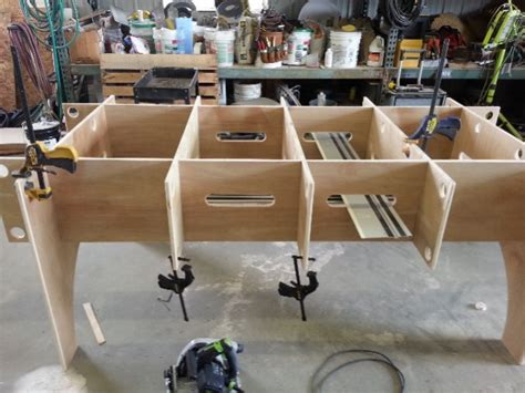 saw track cutting table workbench festool tables knockdown portable tool woodworking makita storage plywood paulk plans diy cut dewalt festoolownersgroup