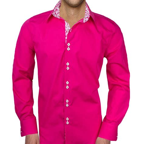 mens designer dress shirts pink breast cancer shirts