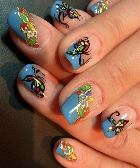 butterfly nail designs high impact nail ideas