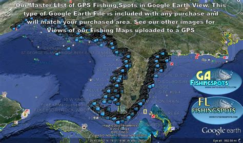 florida fishing maps  gps coordinates florida