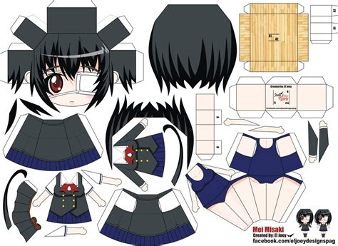 misaki mei papercraft by eljoeydesigns on deviantart
