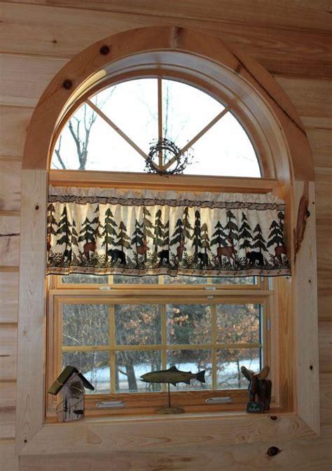 northwoods moose lodge country curtain window valance