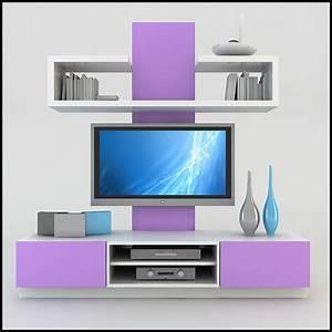 tv wall unit modern design x 19 3D Models - CGTrader com