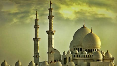 Golden Mosque Wallpaper by Free Desktop Wallpapers 36 Wide Mosque Hdq