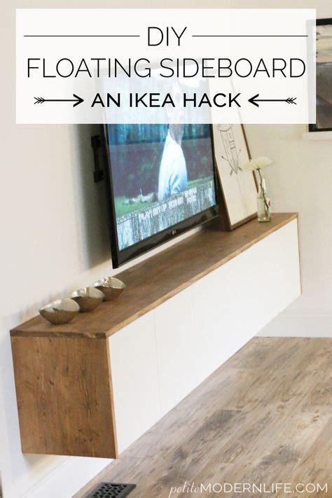 Diy Floating Desk Ikea by Best 25 Ikea Hack Besta Ideas On Tv Bench