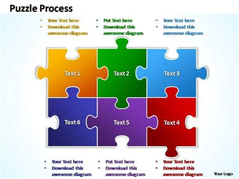 jigsaw template powerpoint  highest quality