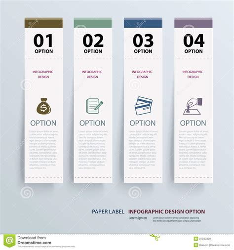 Have a guide to creating file file labels in microsoft expression, using trademarks compatible with avery 5066 submitting box file label template word beyond supplying blank tags for both equally business and recreation, computer system labels delivers custom style options and printing with. Infographic Label Tab Template Stock Vector - Illustration ...