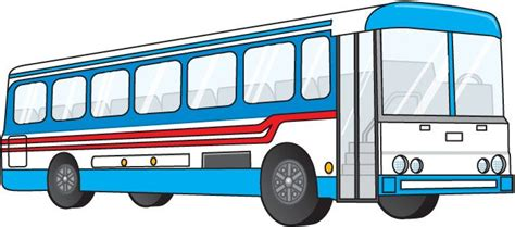 City Bus Transportation Clipart