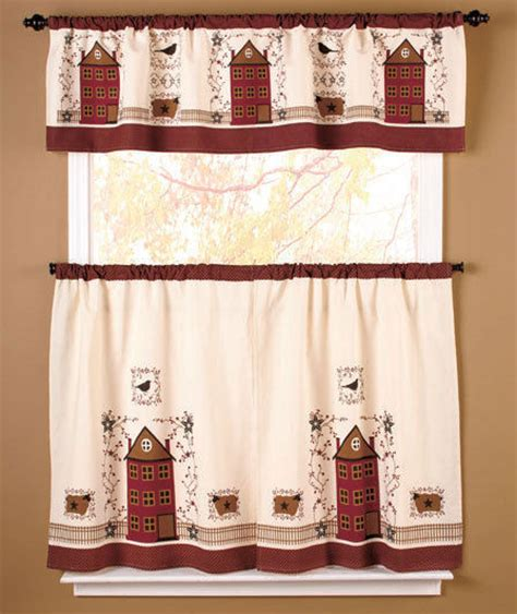 primitive country kitchen curtains country primitive home house berry folk kitchen 4414