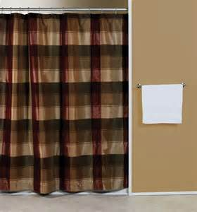 Checkered Shower Curtain Picture