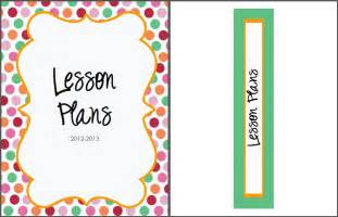 Lesson Plan Binder Cover Template Free