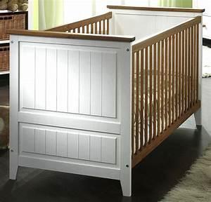 Massivholz Babybett Kinderbett Juniorbett Wei Honig