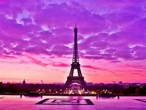 Pink And Black Eiffel Tower Wallpaper | Desktop ...