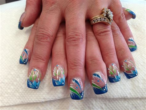 Clearly Blue, Nail Art Designs By Top Nails, Clarksville