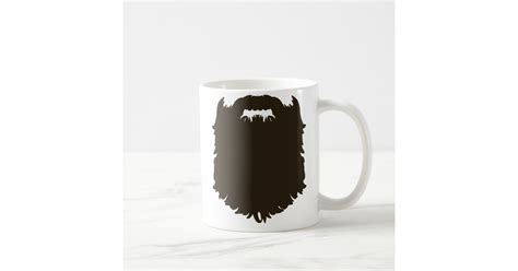 This is one of my favorite uses for coffee mugs! Rugged manly beard coffee mug   Zazzle.com