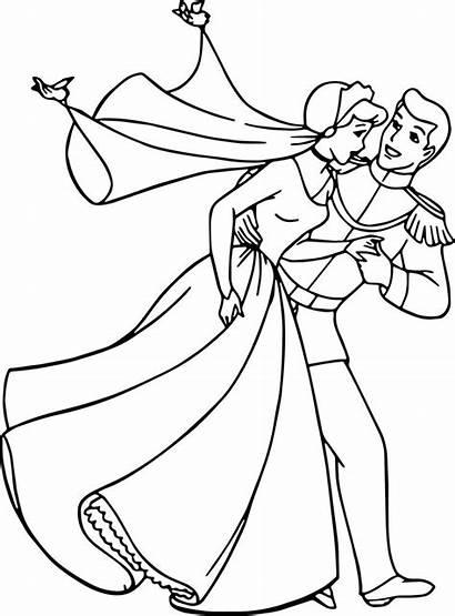 Cinderella Coloring Prince Charming Run Cool Colouring