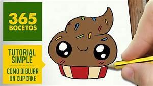 COMO DIBUJAR UN CUPCAKE KAWAII PASO A PASO - Dibujos ...