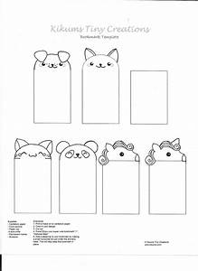 kawaii bookmark free template by kikums on deviantart With bookworm bookmark template