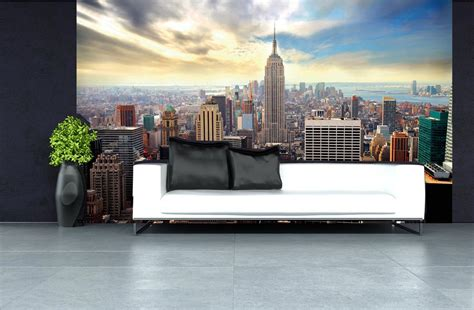 papier peint intisse chambre papier peint york décoration murale nyc vue du ciel