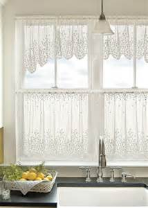 country floral blossom lace curtain tier 24 quot by heritage