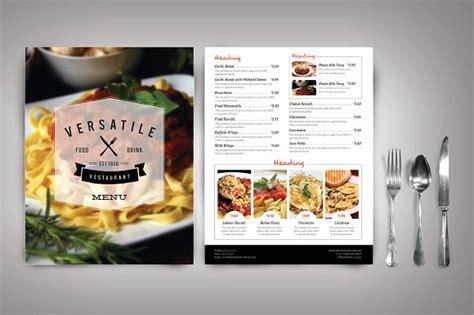 restaurant menu designs     food