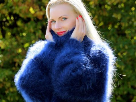 Hand, Knit, Mohair, Turtleneck, Jumper, Cardigan, Angora, Cashmere, Alpaca, Supertanya