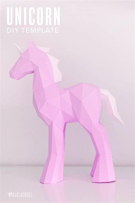 papercraft unicorn template diy unicorn papercraft