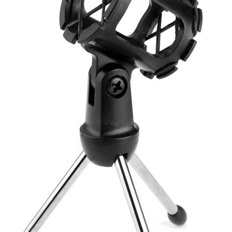 mini stand mikrofon universal mini tripod stand mikrofon universal dengan pop filter