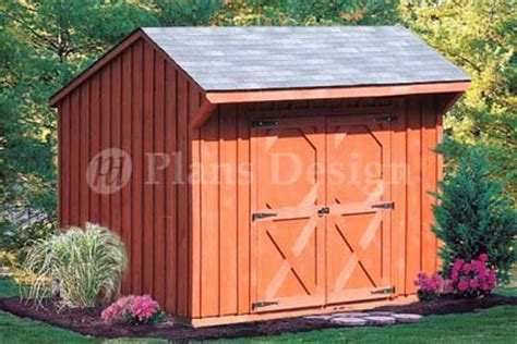 6 x 8 saltbox roof style shed playhouse plans design