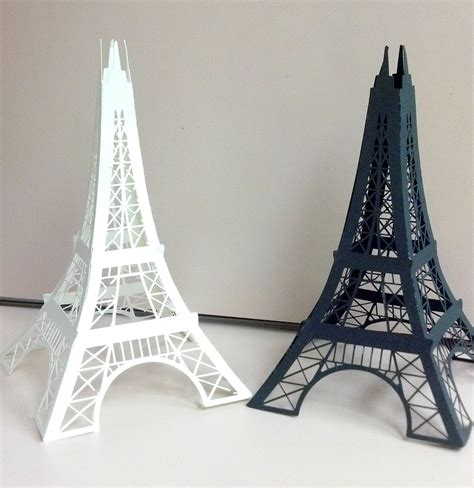 thick cardboard 3d eiffel towers can be made in different colors paper craft eiffel tower