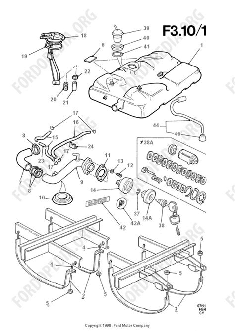 ford transit mkiii 1985 1991 parts list f3 10 fuel tank related parts fordopedia org