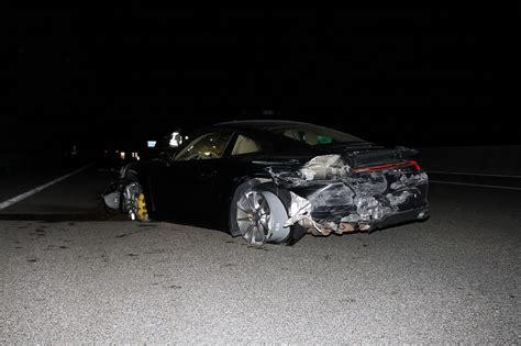 drunk driver crashes porsche   germany