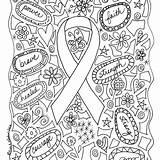 Coloring Cancer Awareness Mama Autism Breast Colorear Brustkrebs Imagenes Dibujos Ribbon Mandala Printable Childhood Survivor Month Dibujo Freebie Forever Special sketch template