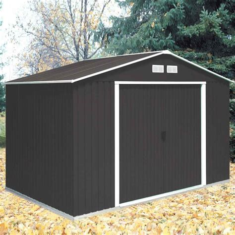 shedswarehouse com madrid 10ft x 8ft anthracite metal