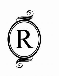 monogram letter r clipart clipart suggest With monogram letter art